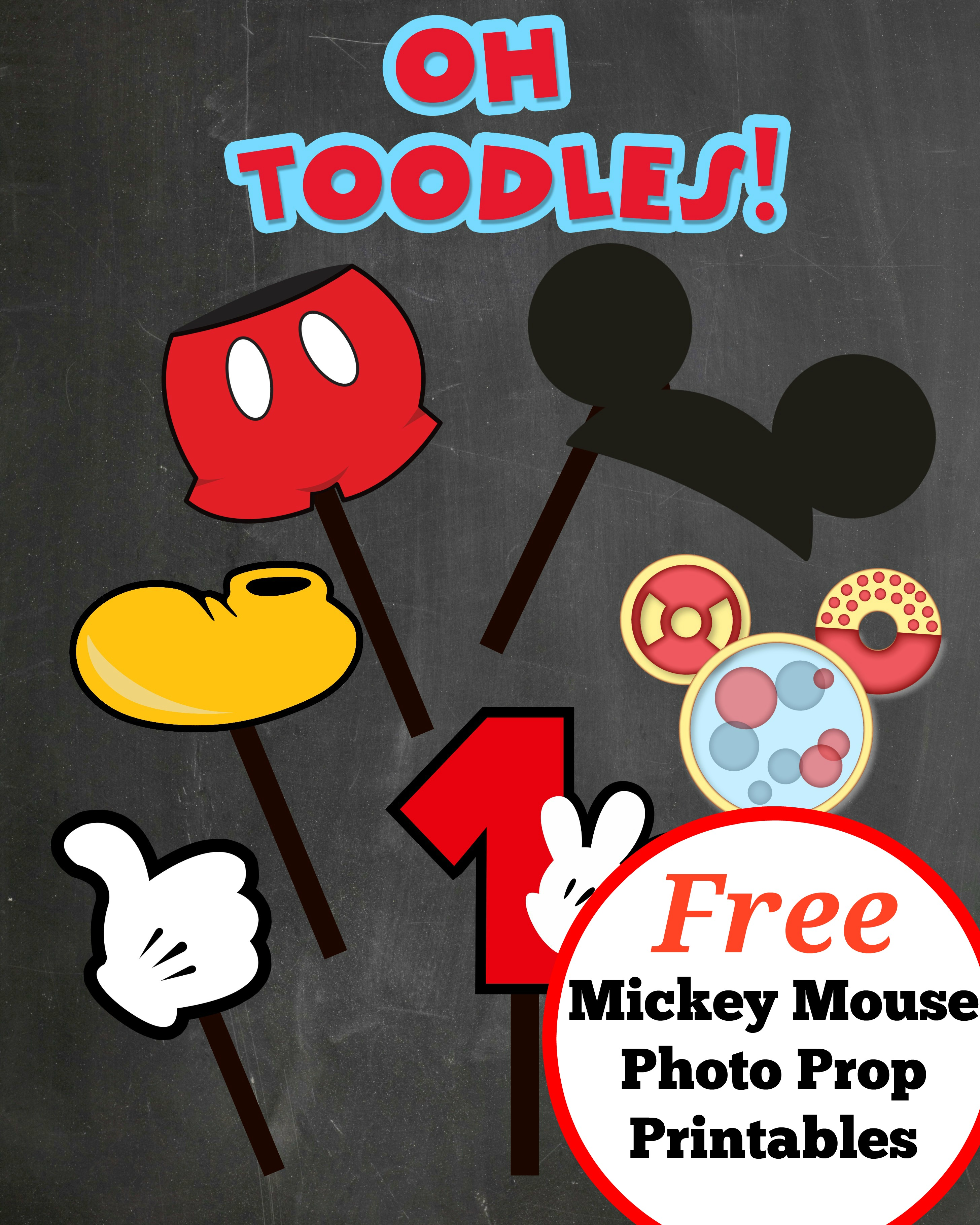 Mickey Mouse Photo Props Printables Mickey Mouse Photo Props