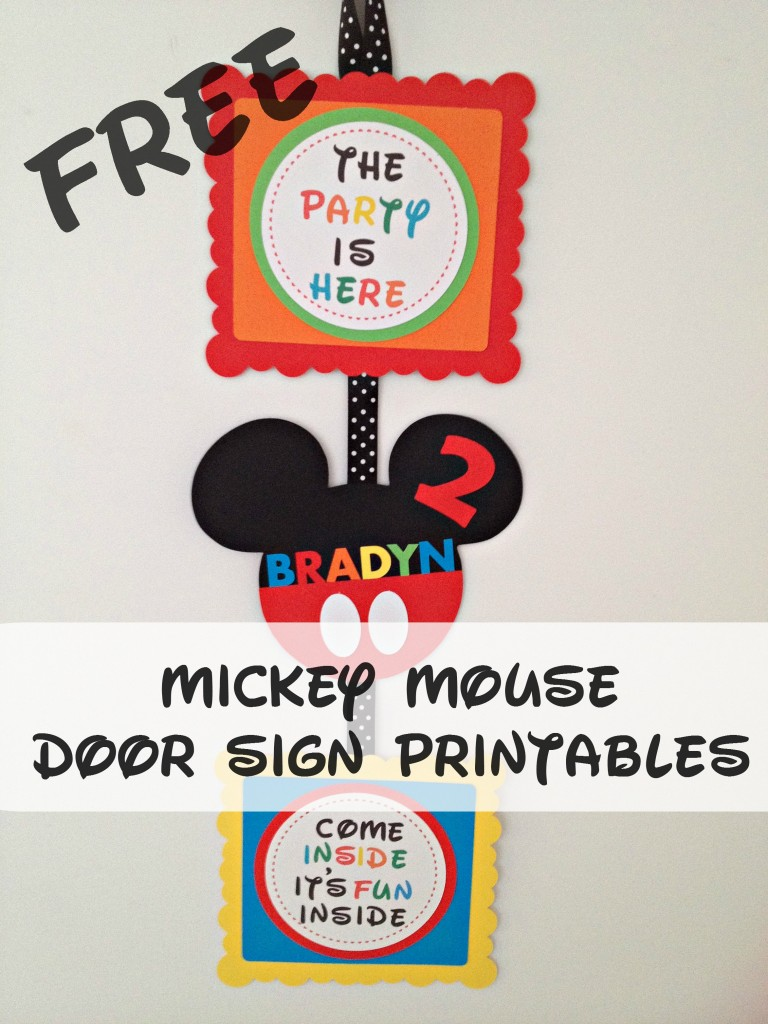 Irresistible image intended for free printable mickey mouse signs