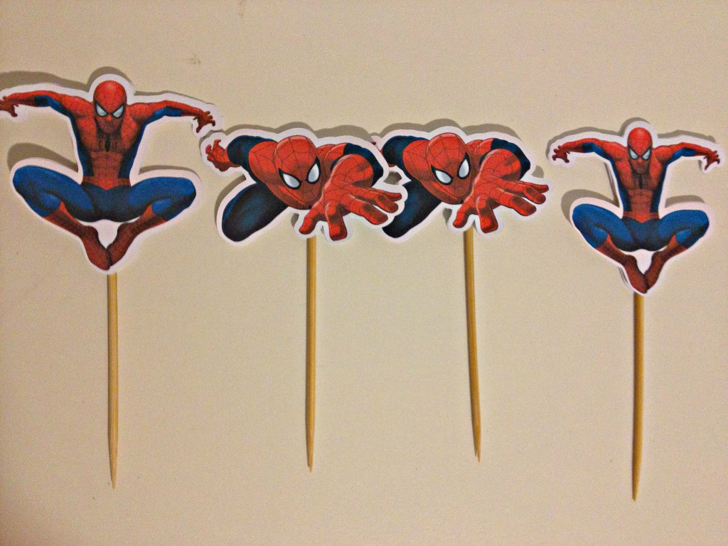 Free Printable Spiderman Cake Toppers