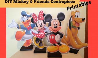 How to make Mickey Mouse Clubhouse Charactor Centrepieces, Free Party Printables