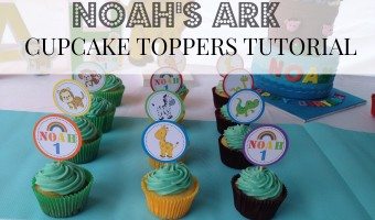 Noah's Ark Cupcake Toppers (DIY plus FREE printables)