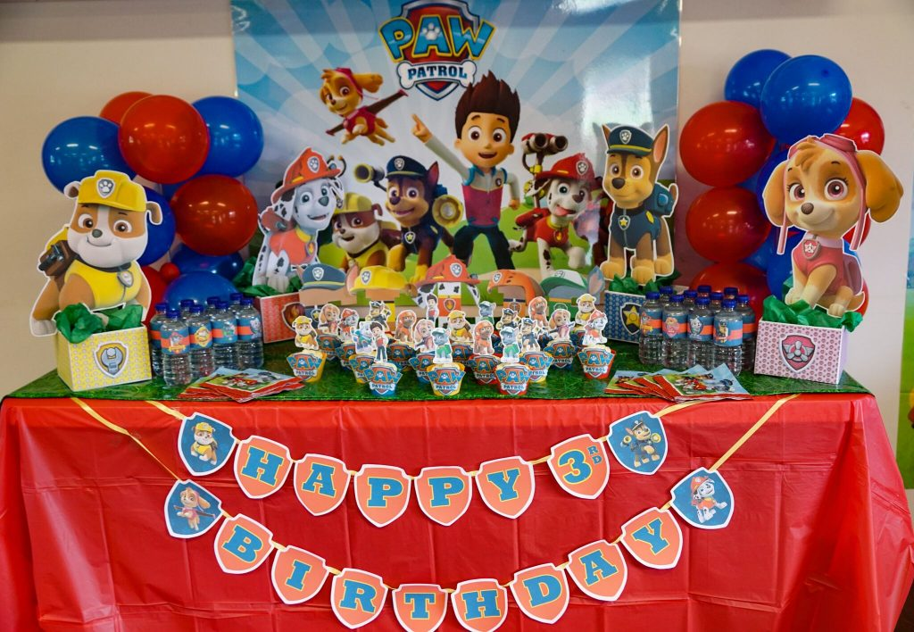 DIY Paw Patrol Party Decoration Centerpieces FREE