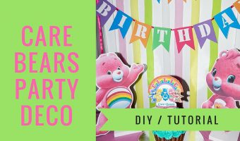 How to make Care Bear Centrepieces | FREE printables & Step by Step video tutorial
