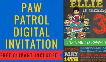 How to make a Paw Patrol Digital Invitation | includes FREE Clipart