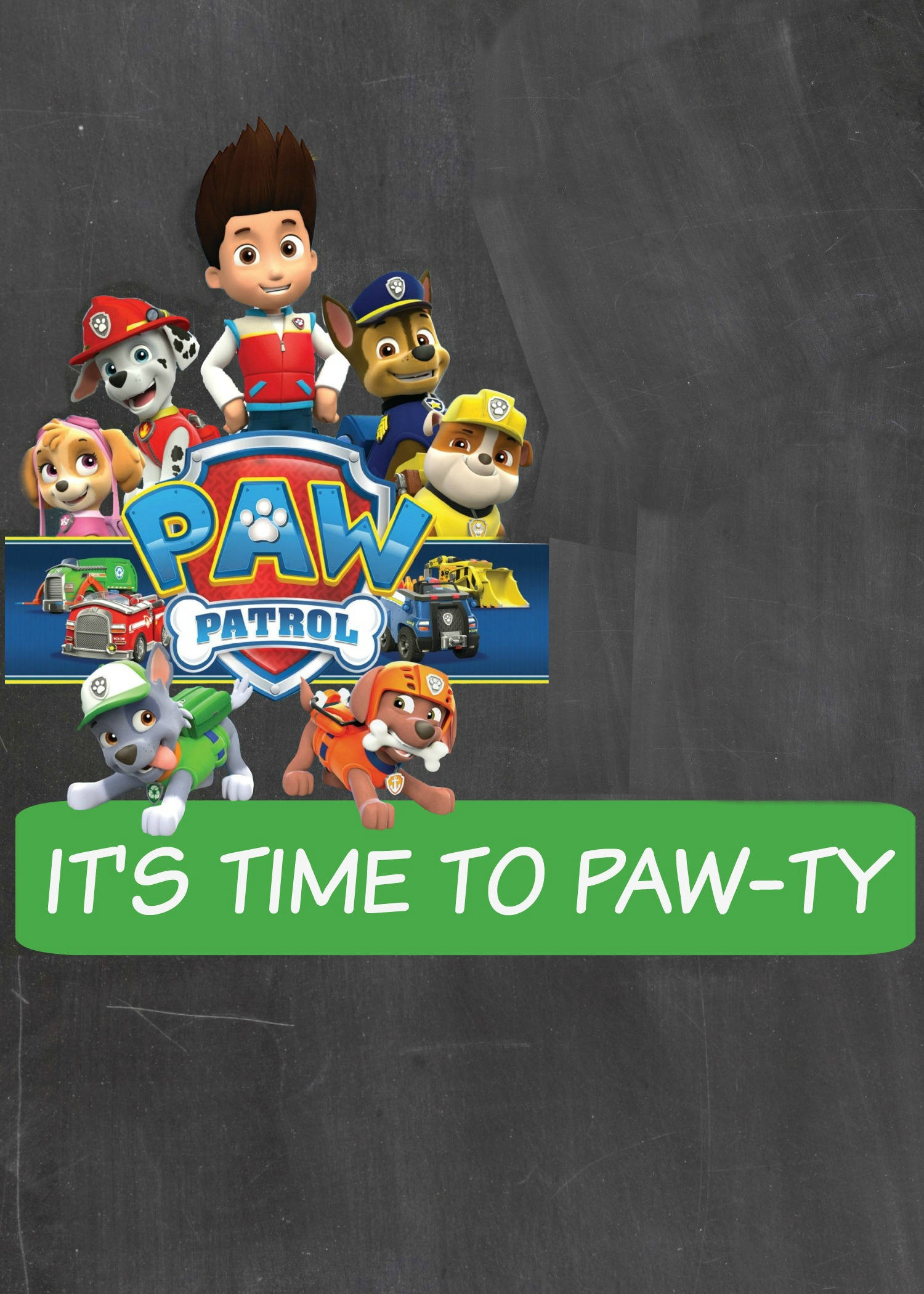 How to make a Paw Patrol Digital Invitation | includes FREE ...