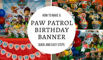 Paw Patrol Happy Birthday Banner | Learn how to make with free printables included