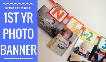 Noah's Ark First Year Photo Banner | Newborn to 12 Months