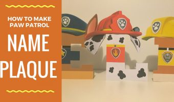 How to make Paw Patrol character name plaque with paper