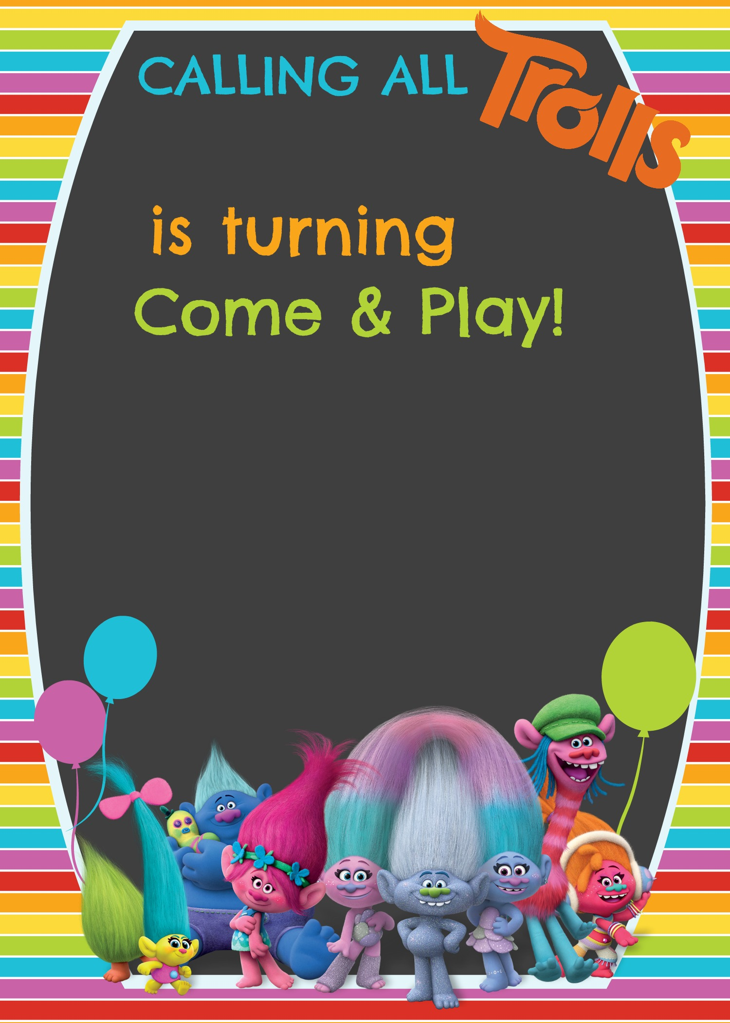Free Trolls Digital Invitation How To Make With