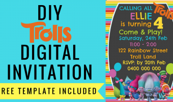 FREE Trolls Digital Invitation | How to make with PicMonkey, template included