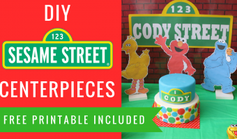 DIY Sesame Street Party Decorations Centerpieces | Elmo, Big Bird, Cookie Monster