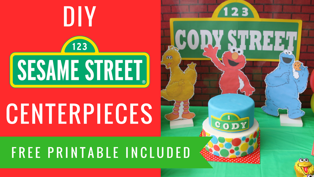 DIY Sesame Street Party Decorations Centerpieces Elmo
