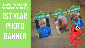 Sesame Street first year photo banner youtube