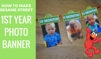 How to make Sesame Street 1st year photo banner |  Free printables included