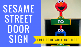 How to make a Sesame Street Door Sign with FREE Printables