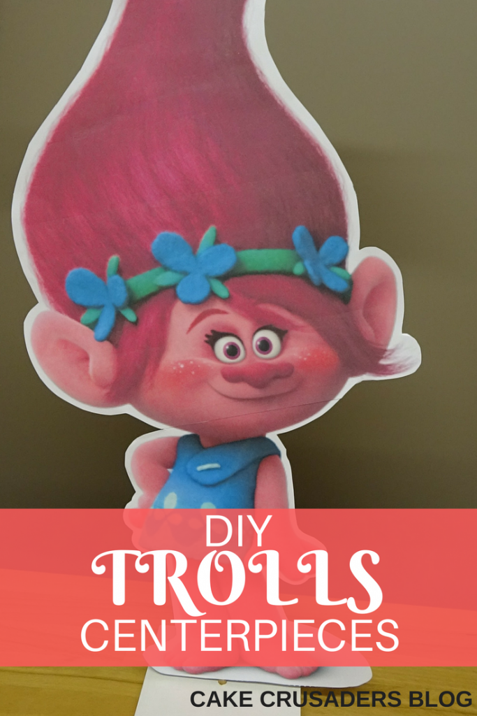 How to make TROLLS PRINCESS POPPY CENTERPIECE DIY