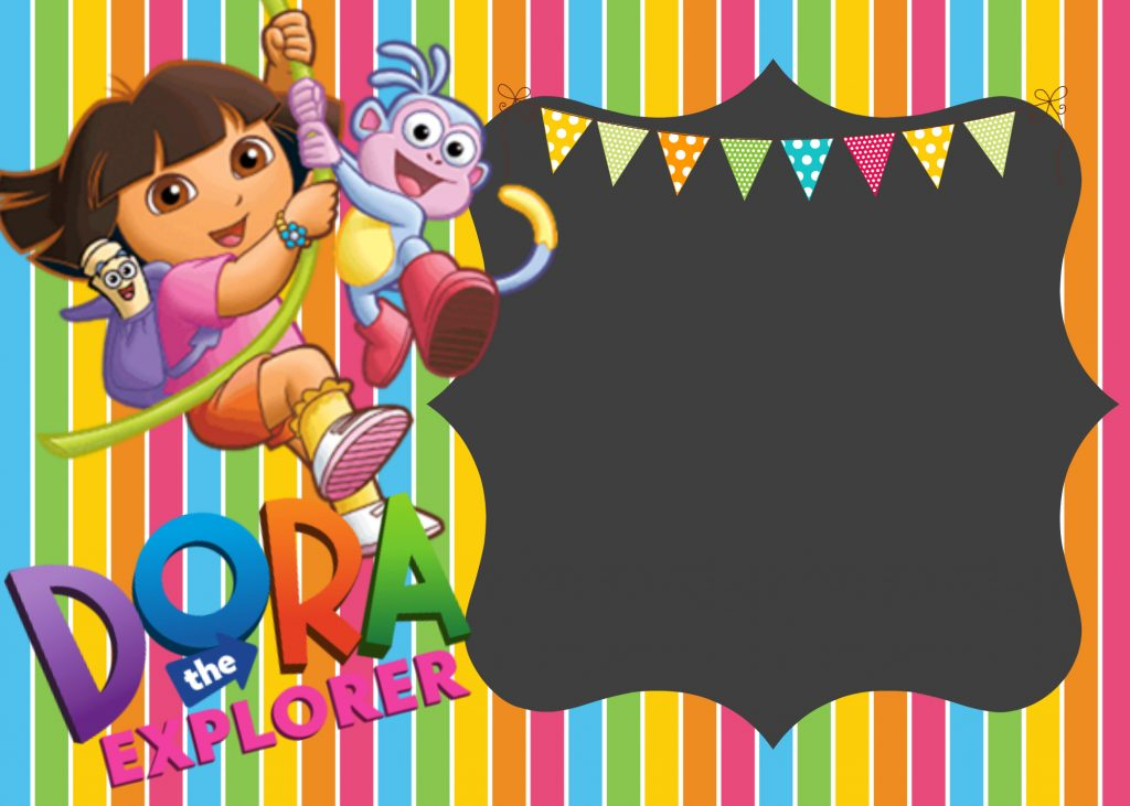 How to make Dora the explorer digital invitation