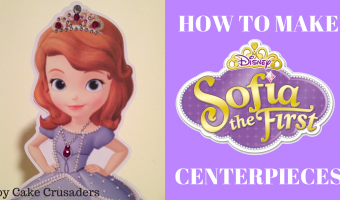How to make Sofia the First Birthday Party Centerpieces