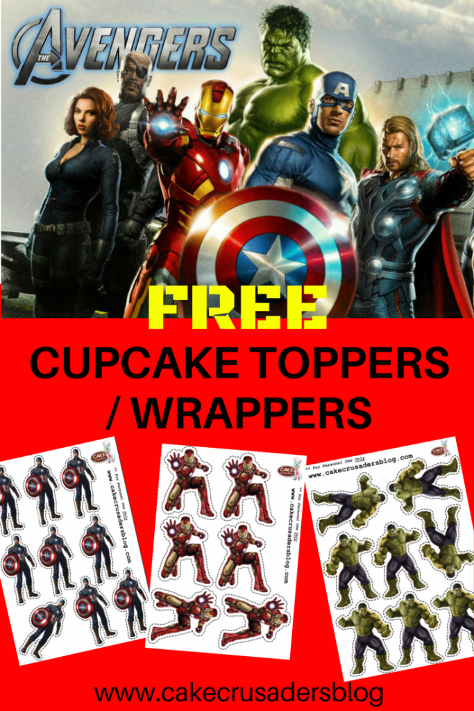 THE AVENGERS FREE CUPCAKE WRAPPERS AND TOPPERS printables