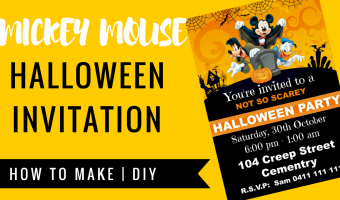 FREE Mickey Mouse Halloween Invitation